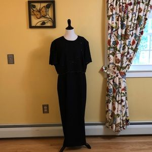Black beaded gown